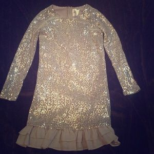 Rare Editions long sleeve sequins dress
